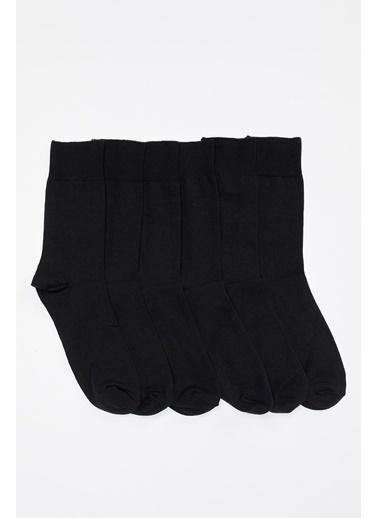 Defacto –Fit 6'lı Uzun Soket Çorap Siyah